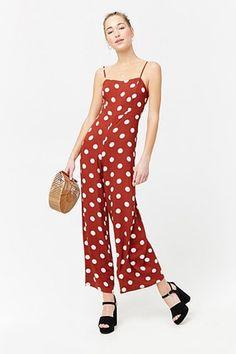 f276962245 Polka Dot Cami Jumpsuit Nyc Fashion