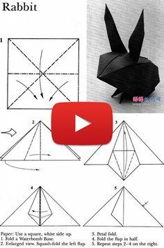 Cute Rabbit Origami Diagrams   Ikuzo Origami
