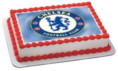 Chelsea Football Club Edible Cake and Cupcake Topper – Edible Prints On Cake (EPoC)