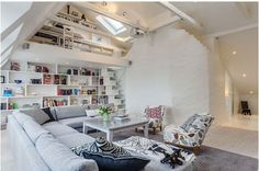 Liking this , large sofa, room to breathe, books.And space from one another, what more can you ask?.