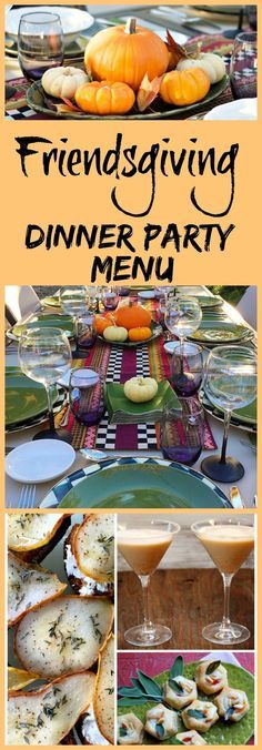 How to Host a Friendsgiving Dinner Party. Recipes, decor/tablescape ideas, and easy entertaining tips included for a fun fall dinner party with friends. Friendsgiving Dinner Party Menu (Halloween Appetizers For Party) Thanksgiving Parties, Thanksgiving Recipes, Fall Recipes, Holiday Recipes, Fall Dinner Parties, Outdoor Thanksgiving, Dip Recipes, Holiday Treats, Grilling Recipes