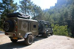 Terra Xplorer Offroad trailer First trail to the Restonica valley Corsica - Landrover Defender BEYOND TRAILS Bug Out Trailer, Off Road Camper Trailer, Small Trailer, Truck Camper, Camper Trailers, Expedition Trailer, Overland Trailer, Off Road Camping, Auto Camping