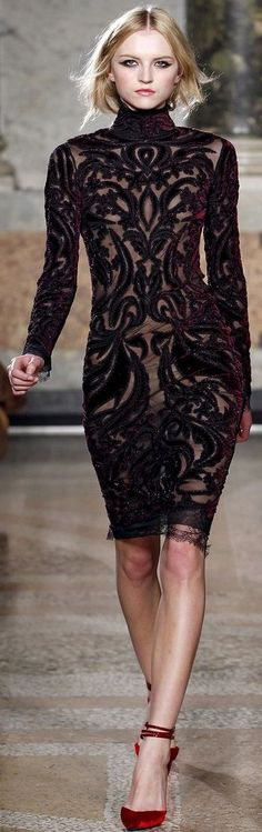 MILAN  Fall/Winter 11.12 Ready-To-Wear     EMILIO PUCCI....Love the dress with the red shoes!