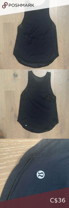 Lululemon Sculpt Tank II Like new! This black sculpt tank has only been worn twice. Top features mesh panels on the shoulders and back with a nice loose hip length fit. lululemon athletica Tops Tank Tops Crop Tank, Tank Tops, Embellished Dress, Bra Tops, Black Denim Shorts, Purple And Black, Cropped Pants, Racerback Tank, Sculpting