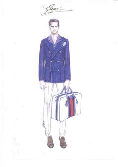 Lapo Elkann Gucci: la capsule collection Lapo's Wardrobe Made to Measure, il bozzetto @gucci #lapoelkann #fashion #style #gucci #capsule