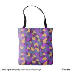 Our Camo tote bags are great for carrying around your school & office work, or other shopping purchases. Camo Fashion, Reusable Tote Bags, Fashion Design, Style, Swag, Camouflage Fashion, Outfits