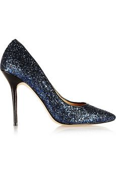 Lucy choi london adelite glitter finished leather pumps net a porter