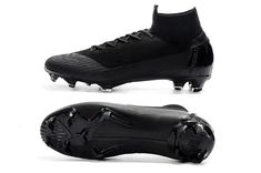 29c257535e Black Mercurial Superfly 6 micro-textured Flyknit construction provides  touch at high speeds.Chevron