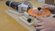 Homemade sharpening jig that will allow you to sharpen your saw blades and router bits.
