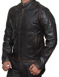 628240636b Jack Reacher 2 Men s Tom Cruise Leather Jacket at Amazon Men s Clothing  store