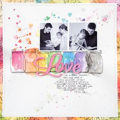 9 Ways to Give Your Scrapbook Pages a Trendy Rainbow Color Treatment | Marie-Pierre Capistran | GetItScrapped
