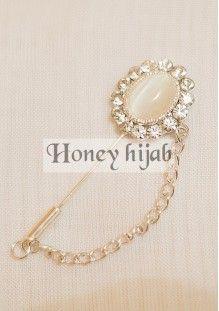 Broche hijab ASSIA blanc