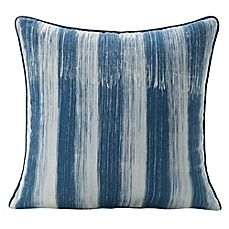 image of SPUN™ by Welspun BrushedHandcrafted Throw Pillow in Navy/White