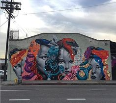 Mural by Tristan Eaton in Los Angeles.