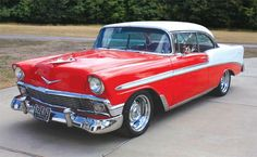I believe this is what dad lost in the garage fire. Would like to find one for my collection:  1956 Chevrolet Bel Air