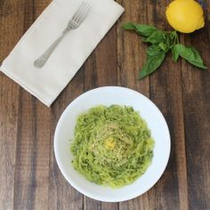 Homemade pesto over spaghetti squash noodles. Low-carb and paleo. obsessed with spaghetti squash! Primal Recipes, Low Carb Recipes, Real Food Recipes, Cooking Recipes, Healthy Recipes, Paleo Whole 30, Whole 30 Recipes, Whole30 Pesto, Homemade Pesto