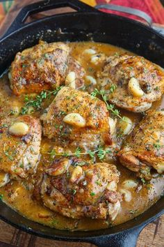 A really easy rustic roasted garlic chicken with asiago gravy recipe for you that is just packed with flavour!