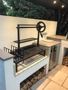 Outdoor Kitchen with Pizza Oven . Outdoor Kitchen with Pizza Oven . Pin On Ideje Outdoor Kitchen Kits, Modular Outdoor Kitchens, Kitchen Modular, Backyard Kitchen, Backyard Patio, Rustic Kitchen Design, Outdoor Kitchen Design, Kitchen Decor, Kitchen Ideas