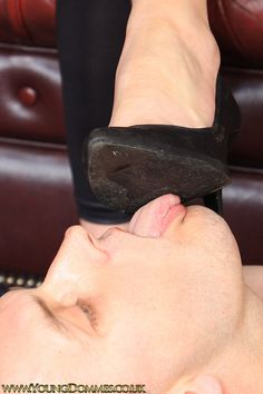 let's see if you clean this house properly.show me your tongue after you clean my soles.