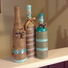 Fun and easy way to decorate wine bottles!
