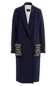 BY MALENE BIRGER Coat with Embellished Pockets. #bymalenebirger #cloth #long coat