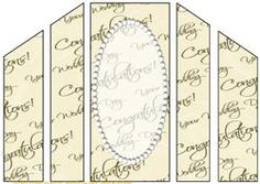 Wedding Text and Pearls Theatre Card Base 2 on Craftsuprint - View Now!