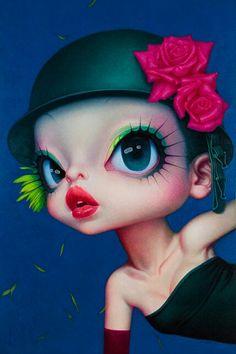 Wang Zhijie (aka Wang ZhiJie or Wang Zhi Jie) was born in 1972 in Qi Xian, Shanxi Pr, China) Chinese Contemporary Art, Chinese Art, Painting Of Girl, Portraits, Fan Art, Whimsical Art, Print Artist, Surreal Art, Up Girl