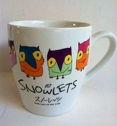 SNOWLETS Owls Porcelain Coffee Mug Cup Japan Olympic Mascots 1993 Gift Idea