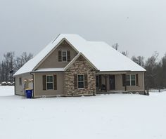 The Portland home plan 897 is ready for winter! #WeDesignDreams