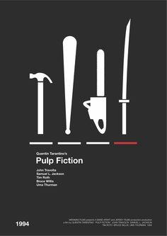 Tarantino Movie Posters by Andrew Makin, via Behance