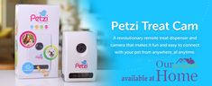 A revolutionary remote treat dispenser and camera that makes it fun and easy to connect with your pet from anywhere, at anytime.