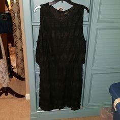 Lucky Brand Beautiful Black Sleeveless  Dress. Lucky Brand Black beautifully textured extra Large Dress Lucky Brand Dresses Midi