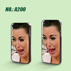 iPhone 4/4S Case, iPhone 5 Case, Kim Kardashian Crying Ugly Face, Plastic Phone Cases, Case for iphone, Please Choose Case Model-A200 on Etsy, $6.99