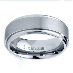 Titanium Wedding Band Men Titanium Rings Mens by GiftFlavors