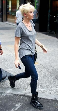 Miley Cyrus with Skinny jeans candids in Philadelphia, August 2012.