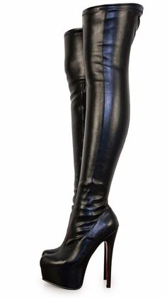 Kiss my boots 👄👄 Beige Boots, Black High Boots, Thigh High Boots, High Heel Boots, Over The Knee Boots, Heeled Boots, Women's Shoes, Shoe Boots, How To Stretch Boots