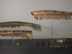 Islande, Reykjavik, Musée national d'Islande: NORSE AND CELTIC CULTURE INHERITANCE: 1. COMBS are often found in graves implying that hair dressing was important. One of the combs was found in a grave in South East Iceland (A), the other two are spot finds.