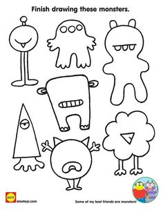 How to draw halloween things for kids gallery step by step drawing activities home improvement neighbor fence Monster Party, Monster Birthday Parties, Monster High, Kids Crafts, Preschool Crafts, Halloween Drawings, Halloween Crafts, Coloring Sheets For Kids, Coloring Pages