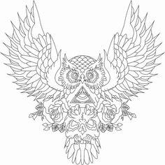 evil owl vector - Pesquisa Google