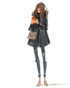 Les baskets roses. #illustration #digital #ipadpro #lifestyle #fashion #parisienne #maM #zadigetvoltaire #tempsdescerises