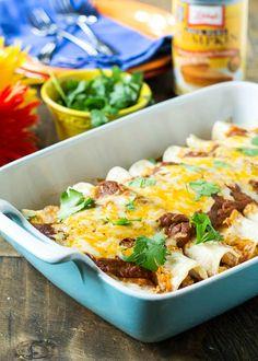 Pumpkin Ancho Enchiladas with Pulled Pork | Spicy Southern Kitchen