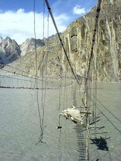Hussaini Hanging Bridge, Northern Pakistan