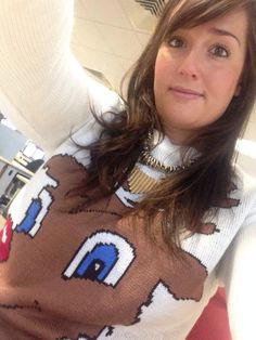 Great Rudolph The Red Nosed Reindeer Christmas jumper selfie from Charlotte Springer ‏- Day 4
