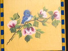 Bluebird.  One Stroke Painting by Susan Earl.
