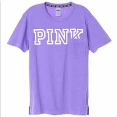 PINK Campus Tee NWT size large I DONT TRADE PINK Victoria's Secret Tops Tees - Short Sleeve
