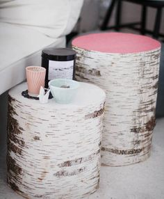 Table basse rondins de bois