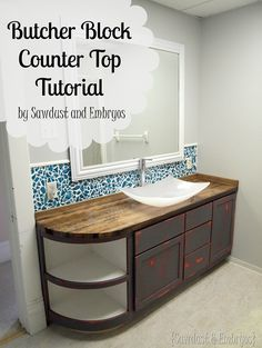 DIY Butcher Block Counter Tutorial ...simple step-by-step instructions! {Sawdust and Embryos} www.sawdustandembryos
