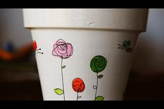 MACETAS PINTADAS A MANO, Painted Plant Pots, Painted Flower Pots, Arts And Crafts Projects, Garden Projects, Cactus Clipart, Decorated Flower Pots, Bazaar Crafts, Clay Pot Crafts, Country Paintings