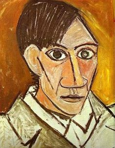 Self Portrait - Pablo Picasso. Pablo Picasso was the most dominant and influential artist of the first half of the twentieth century. His most significant contribution was inventing Cubism. He worked in different style. Picasso Self Portrait, Picasso Portraits, Picasso Art, Picasso Paintings, Cubist Portraits, Self Portrait Artists, Pablo Picasso Cubism, Famous Self Portraits, Portrait Paintings
