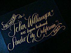 Custom calligraphy font